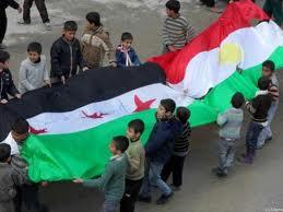 Drapeau-syrien.-Drapeau-kurde